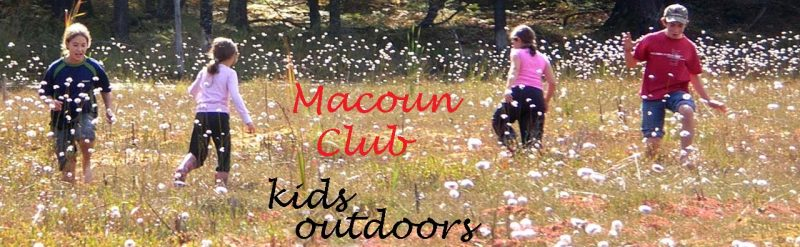 Macoun Club kids on a floating bog