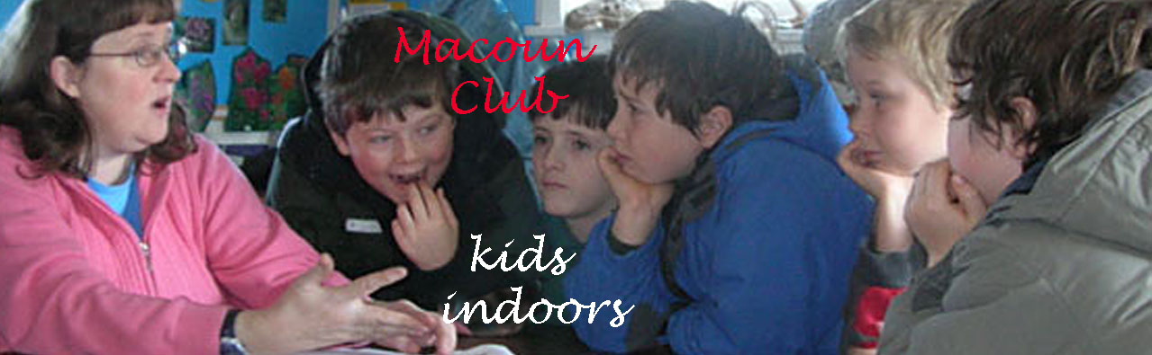 Macoun Club kids at presentation