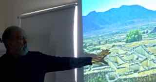 Photo of Roy John showing Mexican ruins