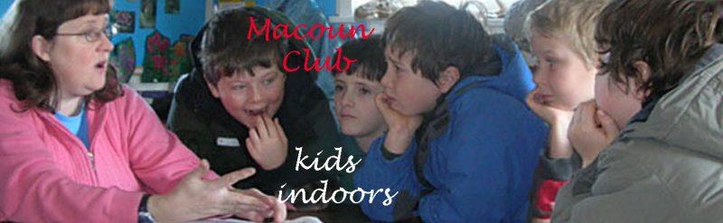 Macoun Club kids at presentation