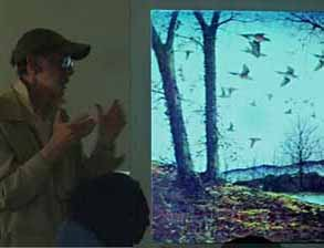 Photo of Rob Lee giving talk on Passenger Pigeons