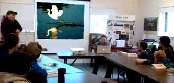 Photo of Rob Lee showing Macoun Club members image of Snowy Egret